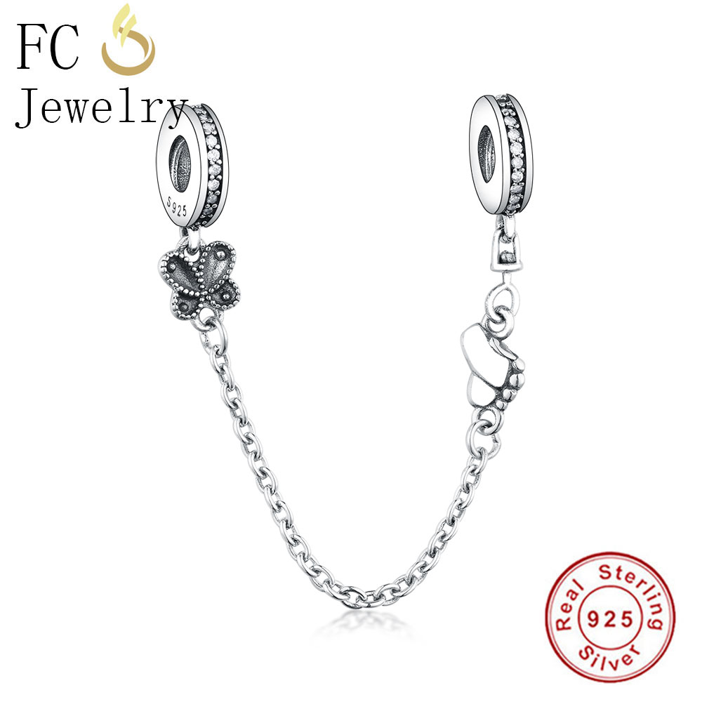 Solid 925 Sterling Silver Two Sided Snowflake with Clear Crystal Charm Bead 581