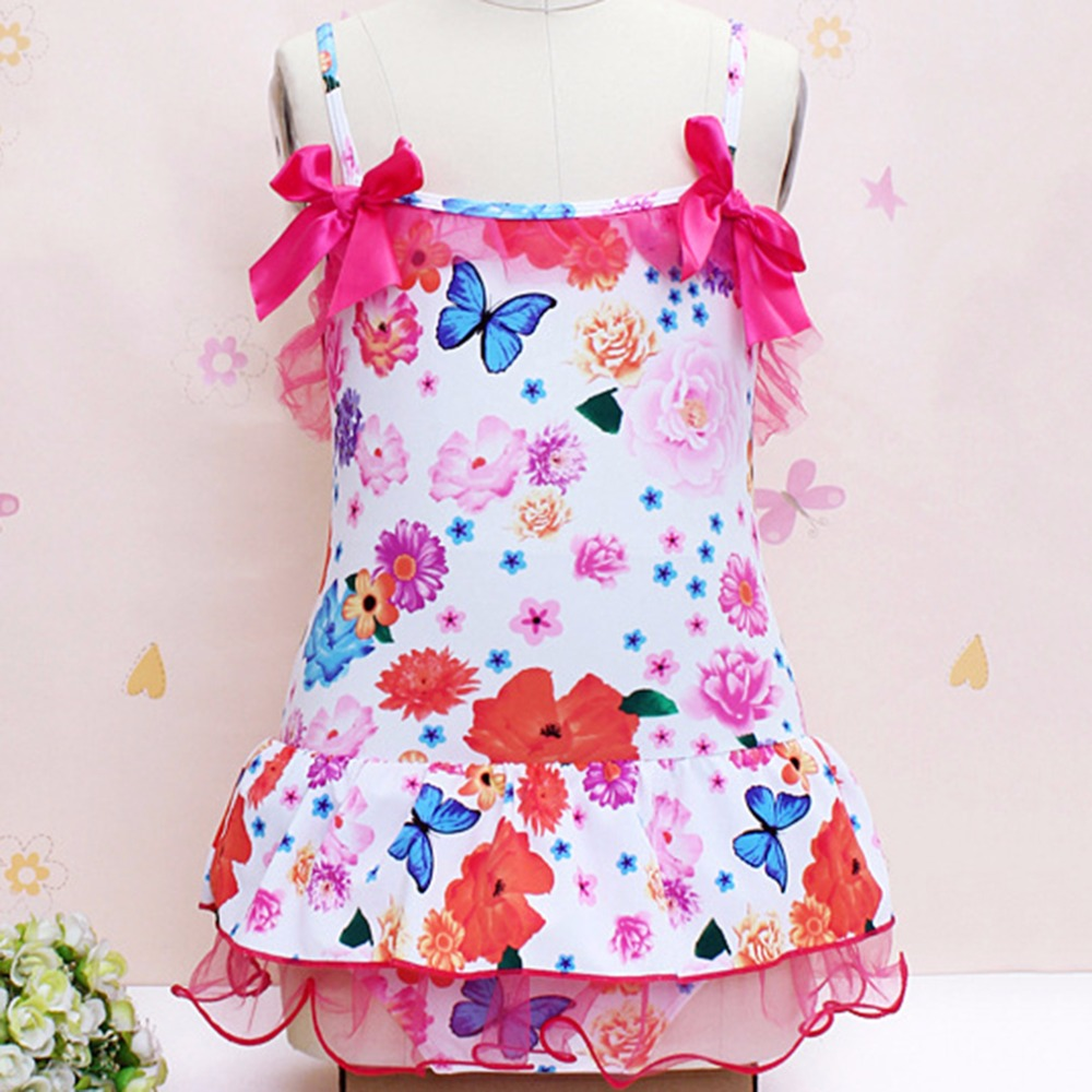 HW2016 New Childs Kids Floral Pattern New Lovely Girls Kid Swimwear Bikini Swimsuit Skirts Promotion беспроводная камера flir fxv100 fxv101 w