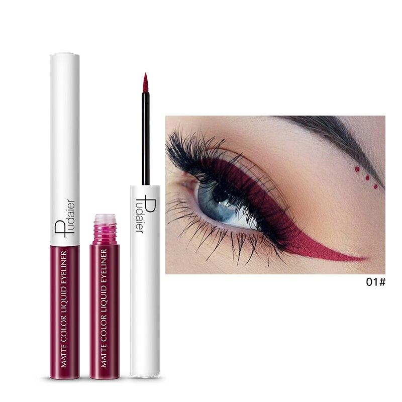 Beauty Essentials Beauty & Health Diplomatic Pudaier Colorful Matte Eyeliner Pencil 15 Colors Red Blue Brown White Eye Liner Waterproof Long Lasting Liquid Eyeliner Pd048
