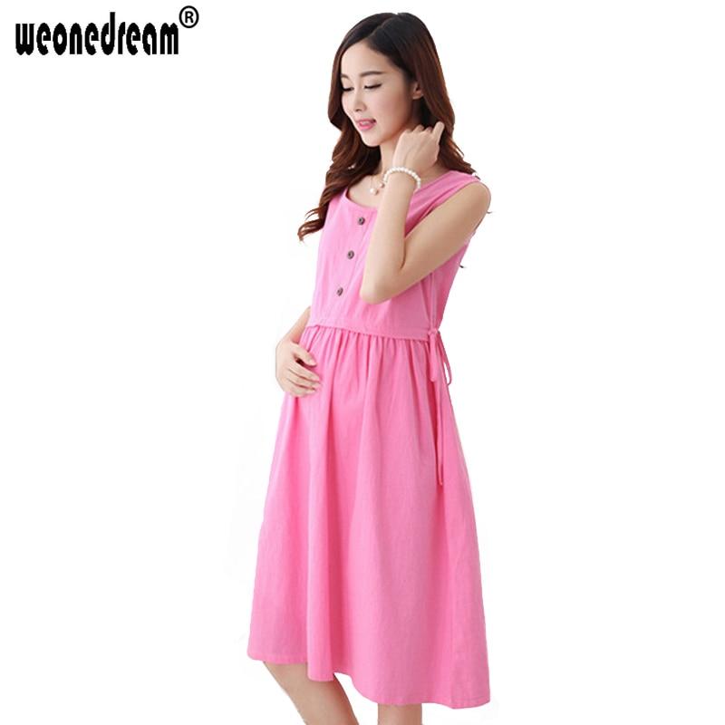 Weonedream 2018 New Hot Fashion Nursing Pregnancy Clothes Summer Maternity Dresses -6086