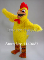 mascot Happy Yellow Chicken Mascot Costume Adult Size Fried Chicken Cook Advertising Mascot Outfit Suit Fancy Dress Costume