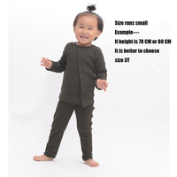 HITOMAGIC New Fashion Hot Sale Baby Girl pajamas Set 2018 Kid's Ribbed Fitted Pajamas Home For Children Boy Clothes Long sleeve