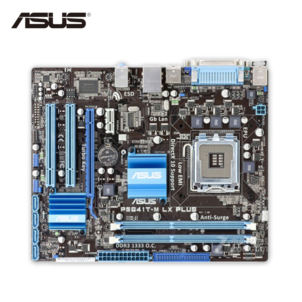 все цены на Asus P5G41T-M LX PLUS Original Used Desktop Motherboard G41 Socket LGA 775 DDR3 8G SATA2 USB2.0 uATX онлайн
