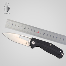 Kizer mini faca dobrável moda faca ao ar livre n690 aço inoxidável fácil sobrevivência edc bolso faca v4461n1 kesmec