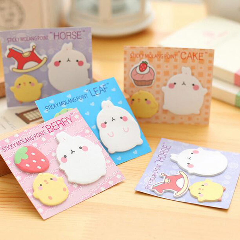 20sets/lot Cute Sticker Bookmark Tab Flags Memo Book Marker Sticky Notes School Office Paper Stationery Kid Prize Gift Papelaria