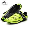 Santic mens ciclismo de estrada sapatos pu & mesh respirável road bike calçados auto-lock calçados esportivos zapatillas ciclismo da bicicleta verde 2017