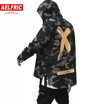 Big Letter X Coat Camo Jacket