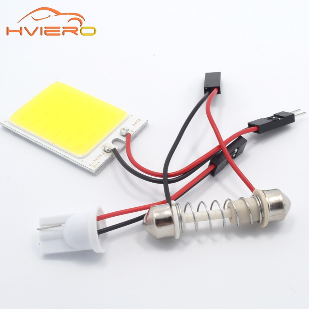 2Pcs White Red Blue T10 24 Smd Cob Led Panel Car Auto Interior Reading Map Lamp Bulb Light Dome Festoon BA9S 3Adapter DC 12v Led 1set t10 festoon 18 24 36 48smd cob car led vehicle panel lamps auto interior reading lamp bulb light dome 3adapter dc 12v