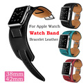 1pcs 42 mm 38mm High Quality Black Straps For Apple Watch Band Buckle Wrist Women Bracelet Soft Leather Watchband Free Shipping
