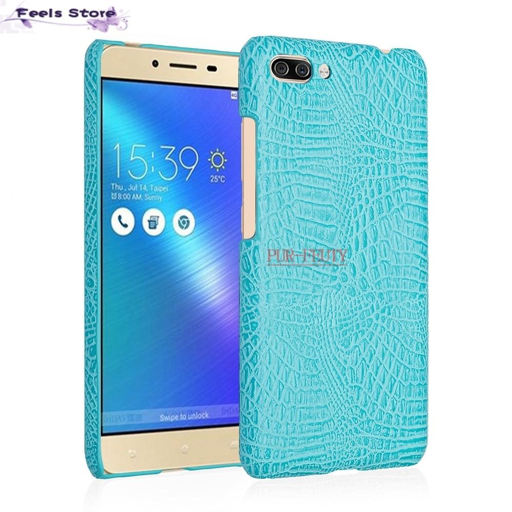 For Asus Zenfone 4 Max ZC554KL ZC Zc554 554 554KL KL phone bag case Luxury Crocodile Skin Protective Case Cover For Asus ZC554KL ...