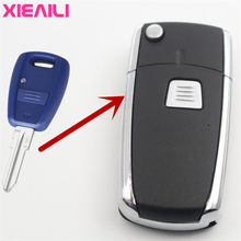 XIEAILI 10Pcs 3Button Flip Folding Remote Key Case Shell For Fiat Palio/Punto/Bravo/Doblo Key Fob Case S110