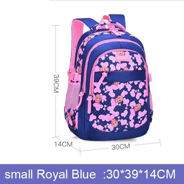 1-3-6 Grade Broken Flowers School Bags Girl Schoolchild School Backpacks Waterproof Kids  Orthopedic Children Princess Schoolbag | american doll