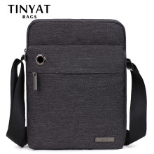 TINYAT Design Casual Man Bag Handbag Brand shoulder crossbody bag for Ipad Waterproof Travel Messenger Bag New Shoulder bag T550(China)