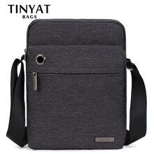 TINYAT Men's Bag Gray Shoulder Bag for 9