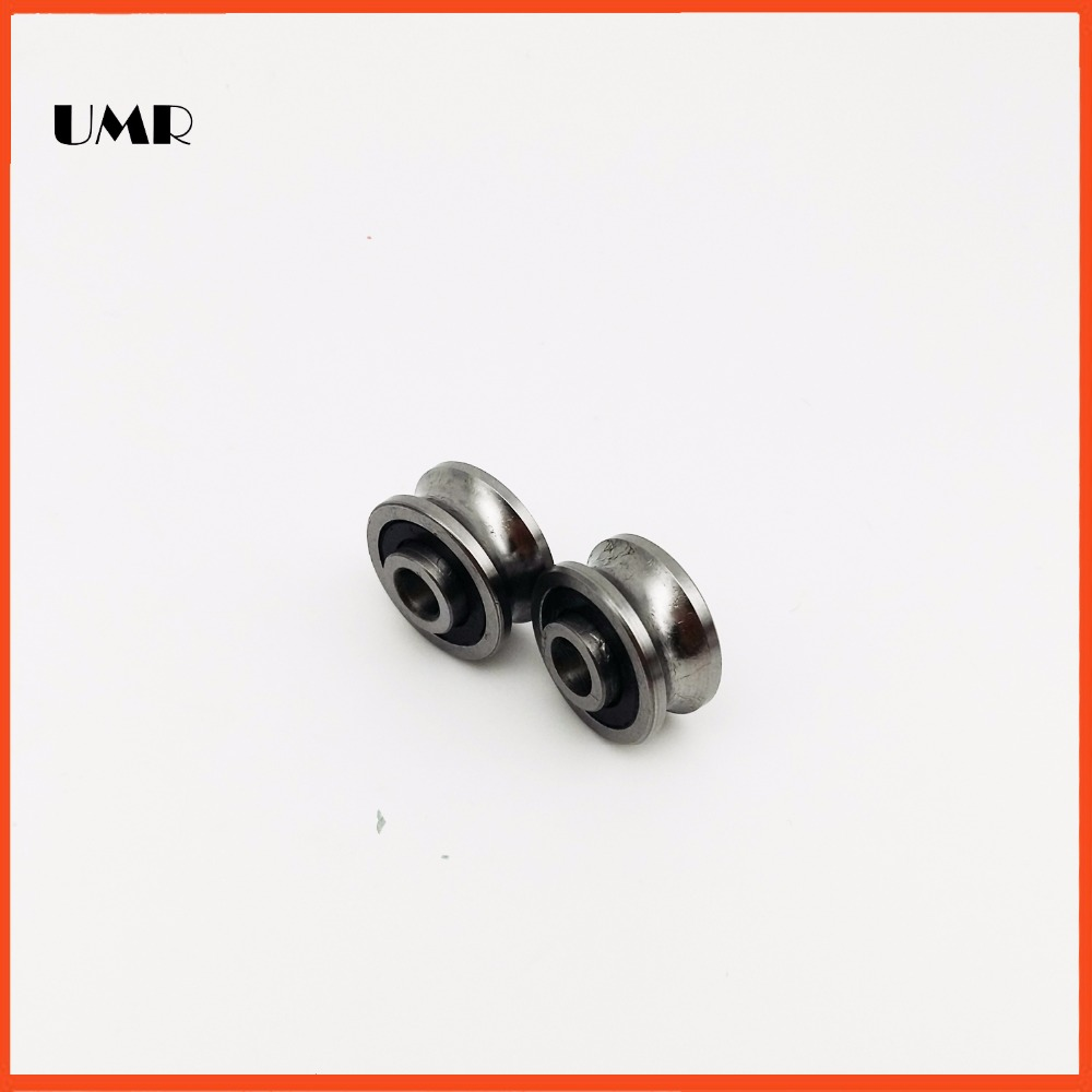 SG66 2RS U Groove pulley ball bearings 6*22*10 mm R3U  (Precision double row balls) ABEC-5 sg15 2rs u groove pulley ball bearings 5 17 8 9 75 mm track guide roller bearing sg5rs v17