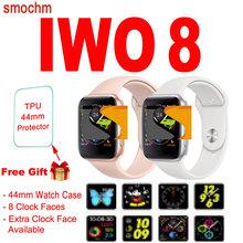 Smochm 44 MM IWO 8 nowy smart watch Bluetooth 1 1 serii 4 bezprzewodowa ładowarka pasek wymienne Monitor pracy serca dla Apple z systemem Android tanie tanio Passometer Uśpienia tracker Odliczanie Mały Druga Tętna Tracker Kalkulatory Chronograph 24 godzin instrukcji Tracker fitness