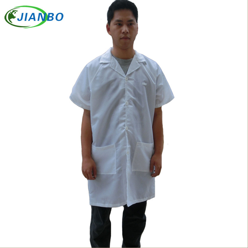 Summer Anti Static Protective Clothing Cleanroom Garments ESD Coat Working Clothes Antistatic Work Wear Clean Short Sleeves Coat