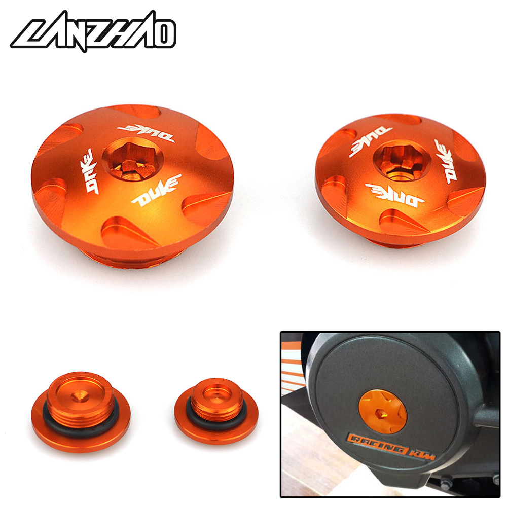 Orange Motorcycle Engine Filter Cap Covers CNC Aluminum Accessory For KTM Duke 390 2013 2014 2015 2016 Duke 125 200 All Year