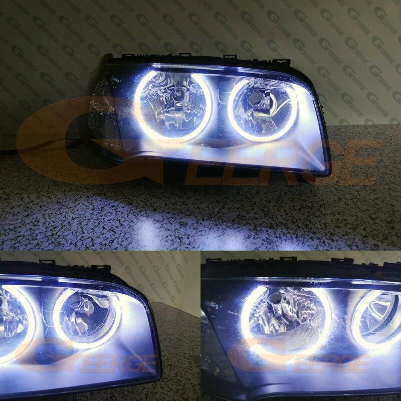 Image 5 - Для BMW E83 X3 2003 2004 2005 2006 галогенные фары отличное Ультра яркое освещение COB led angel eyes kit halo кольца-in Фара для авто в сборе from Автомобили и мотоциклы