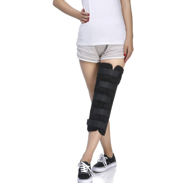Free Shipping Knee Orthosis Knee Brace Orthopedic Orthotics Supports posture Corrector for Patella fracture Knee Injury Support adult adjustable knee orthosis knee support with bilateral hinges medical articulated knee brace patella compression kneepad