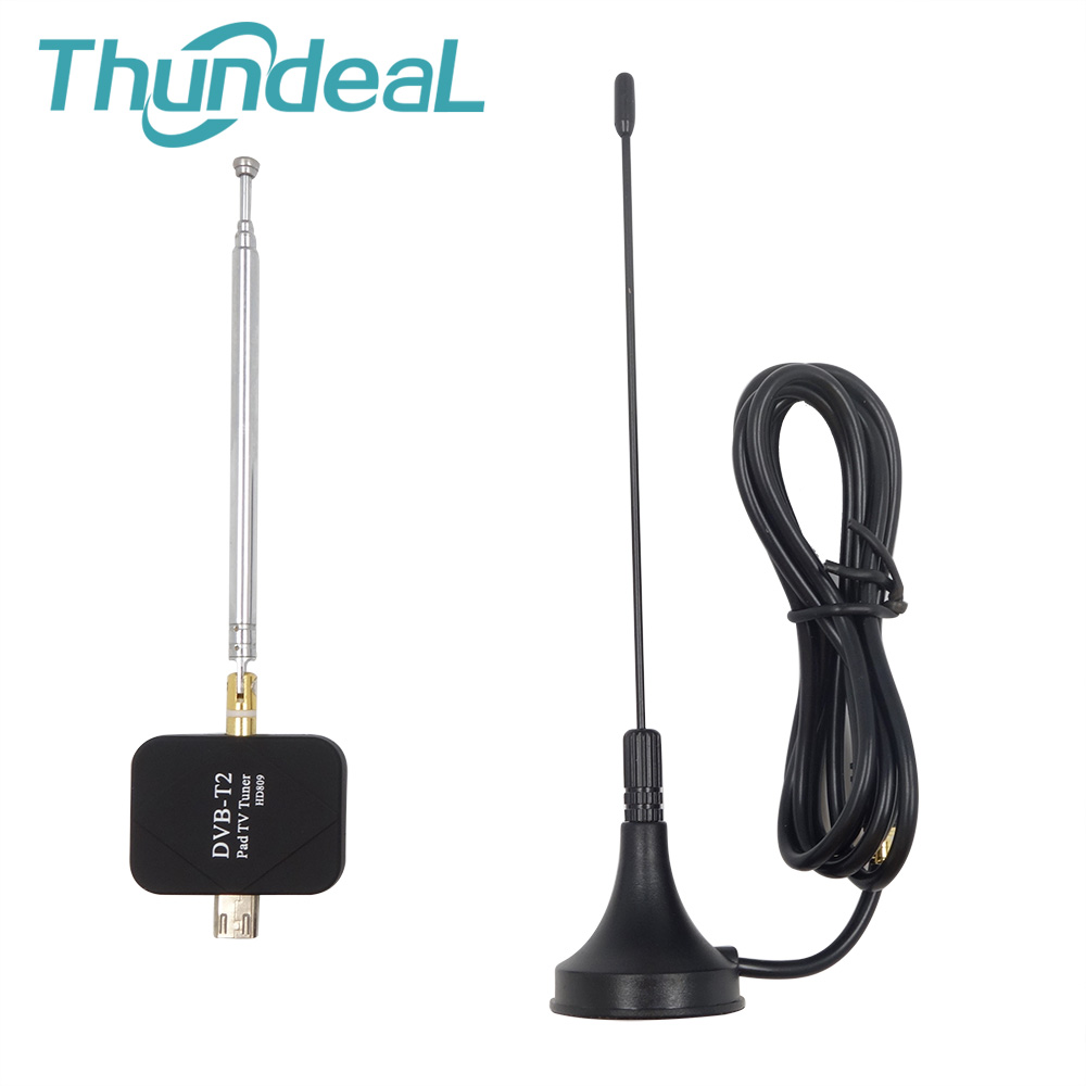 HD Digital DVB T2 TV Receiver Micro USB for Android Phone Pad TV Stick DTV Satellite Receiver Watch TV DVB T2 Signal HD809