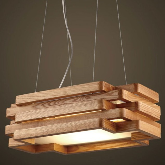 Anese Style Led Wooden Pendant Lights Creative Living