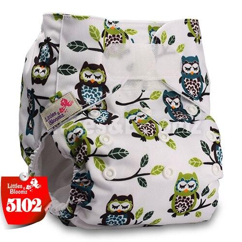 [Littles&Bloomz] Детские Моющиеся Многоразовые, настоящая стандартная ткань, застежка-липучка, карман для подгузников, пеленки, обертывание, подходит для рождения в горшке - Цвет: 5102