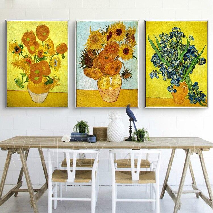 Van Gogh White Rose Sunflower Iris Exterior Decorative