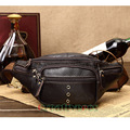 Men Genuine Leather Casual Travel Riding Motorcycle Messenger Shoulder Sling Chest Hip Bum Belt Fanny Pack Waist  Bag