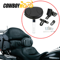 Adjustable Plug In Driver Rider Backrest Luggage Rack For 1997 2017 Harley Touring Electra Road Street Glide Road King