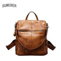 SUWERER Высокое качество модная Роскошная брендовая сумка через плечо женская кожаная замшевая кожаная сумка на груди двойного назначения мно