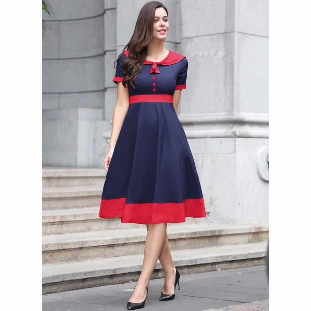New Rockabilly Vintage 50s 60s Women Fashion Dress Elegant ...