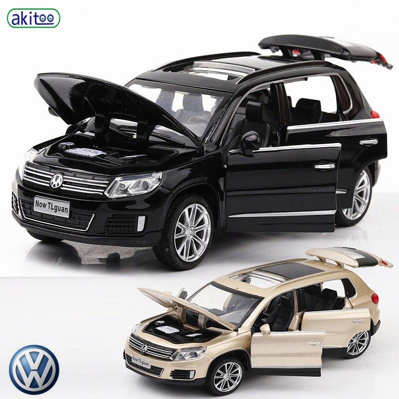 Akitoo Volkswagen Tiguan Alloy Car Model Simulation Car Model Pull Back Car #2437