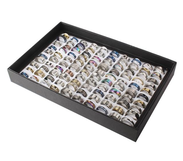 100 Pz stili misti uomini delle donne dito anello in acciaio inox gioielli anell