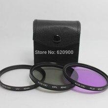 Высокое качество! гарантия RISE(Великобритания) профессиональный 62 мм УФ FLD CPL фильтр комплект для canon nikon sony pentax+ Ткань для очистки