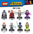 classic Marvel super heroes Mutant X-men Apocalypse building block Wolverine Magneto Psylocke Rogue Quicksilver legod lepins toy