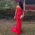 Imagen Real Red Sirena Vestidos de Noche 2017 Atractivo Elatsic Prom Vestidos Robe De Soirée Vestidos de Noche Sweetheart Vestido Formal Barato