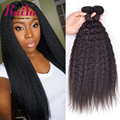Kinky Straight Hair Malaysian Virgin Hair 3 Bundles Coarse Yaki Kinky Straight Virgin Hair Weave Bundles Human Hair Extensions