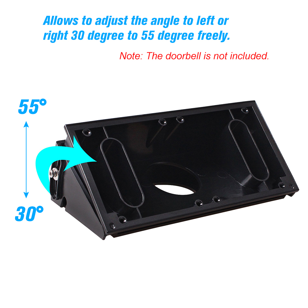 Adjustable Angle Doorbell Mount Bracket For Ring Video Doorbell 2 Angle Adjustment Adapter Wedge Kit Bracket Mounting Plate