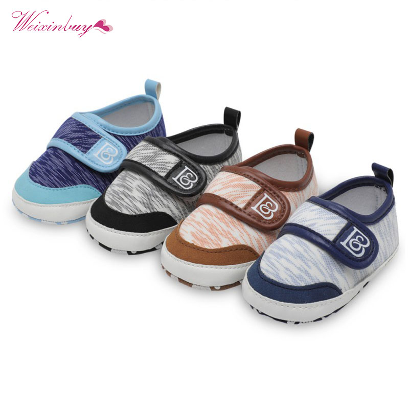 Fashion Baby Shoes Kid Boy Girl Moccasins First Walkers Anti-slip Soft Sole Canvas Toddler Shoes Crib Sneakers