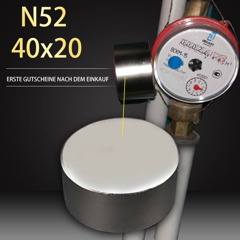 1PC aimant chaud 40x20mm N52 rond forte aimants puissant néodyme aimant 40x20mm magnétique métal 40*20mm