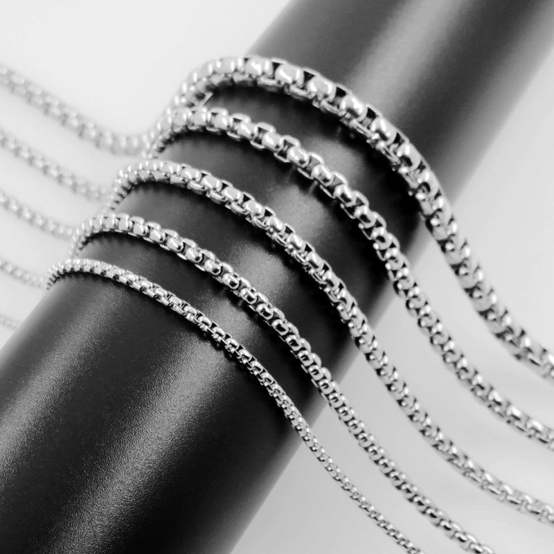 Xmas Gift!New Fashion 316L Stainless Steel 2MM Snake Chain/&Necklace For Pendant