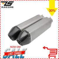 ZS Racing 51mm Universal Real Carbon Fiber Akrapovic Motorcycle Exhaust Pipe Muffler CBR1000 CBR YZF FZ1