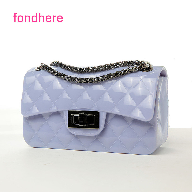 fondhere High Quality Women Handbag Messenger Chain Shoulder Bag Mini Silicone Candy Color Crossbody Jelly Bags Famous Designer high quality authentic famous polo golf double clothing bag men travel golf shoes bag custom handbag large capacity45 26 34 cm