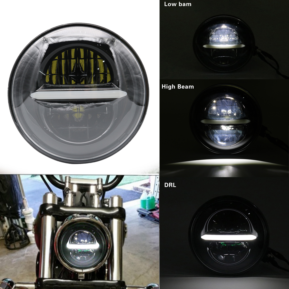 5.75 Inch Daymaker LED Round Motorcycle Headlight for Harley Wide Glide XL1200X FXDX Seventy Two Headlight LED 5 3/4 Headlamp 5 75 5 3 4 chrome headlight housing bucket for harley electra glide bad boy