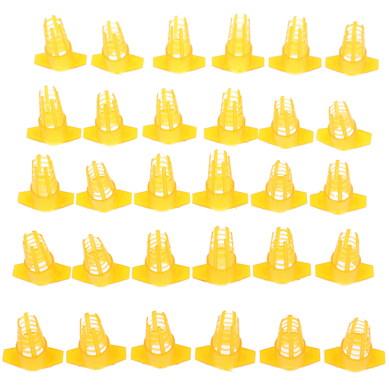 30Pcs Plastic Bee Queen Cage Protective Cover Beekeeping Tools