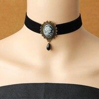 Gothic jewelry vintage lace necklaces & pendants women accessories choker necklace false collar statement necklaces