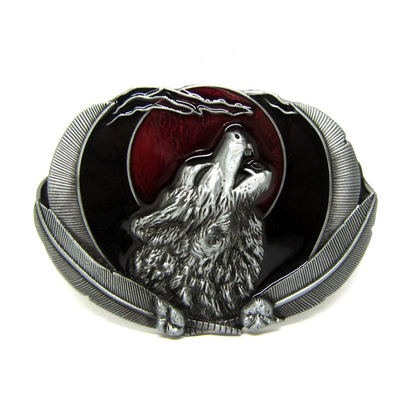 T-DISOM Partihandel Zink Alloy Animal Wolf Belt Buckle För Mens Accories Passar För 4cm Bredd Bälte Drop Shipping