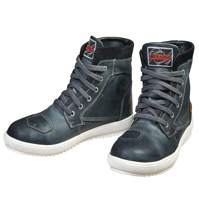 försäljning online toppmärken högmode KERAKOLL Waterproof Motorcycle Racing Shoes New 4 Season Cowhide ...