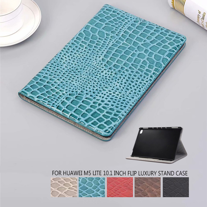 For Huawei MediaPad M5 Lite 10 BAH2-W19/L09/W09 Case Ultra Slim Luxury Pu Leather Smart Stand Cover For Media Pad M5 Lite 10.1
